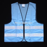 Blue flashing led traffic safety vest