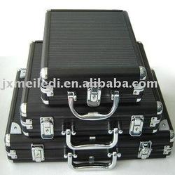 black ABS aluminum poker chips case