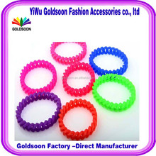 Factory direct sales promotional giveaways twist silicone bracelet adorn article