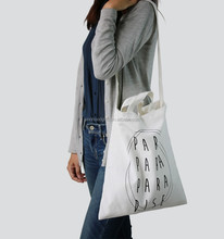 2015 Alibaba China Supplier Reusable Custom Logo Women Canvas Shoulder Bag