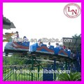 dragón de la pista del tren los niños viajan en montaña rusa