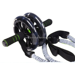 Ab Slider Roller DOUBLE WHEEL EXERCISER FOR MULTIPLE EXERCISES