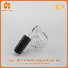 factory supply apple shaped clear nail polish bottle