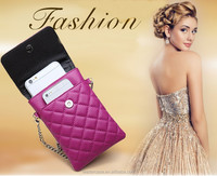 New design pattern two mobile phones leather wallet case for iphone 6