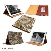 fashion leopard print genuine leather for ipad mini case