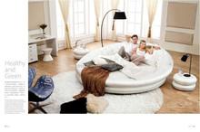 K8809 Luxury modern leather round bed
