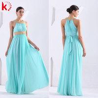 2015 High Quality New Fashion Round Neck Sleeveless Bow Belt Sexy Vestidos De Noche