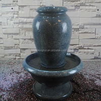 LED Resin Indoor Water Feature Urn