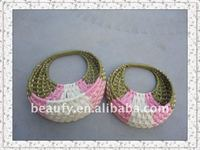 Paper Rope Woven Hanging Flower Basket