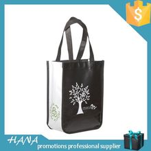 Good quality manufacture printed pink non woven shopping bag