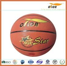 Size 6 PVC leather laminated indoor training exercise basketballs
