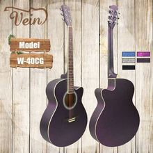 custom chinese glitter acoustic electric guitar factory price