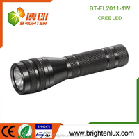 High Quality Aluminum Material Dry Battery Long Time torch Best Bright Light 1 watt led flashlight parts for sale