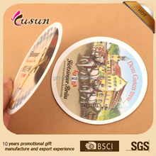 Promotion logo absorbent paper cup pad beer coaster