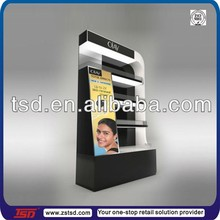 TSD-W888 three layer big brand beauty products display cabinets/MDF beauty product display cases/beauty product display wooden