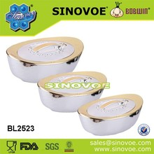 Sinovoe 3pcs set ABS+Stainless insulated hot food container