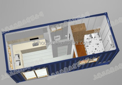 low cost and modern container hotel /prefab modular hotel container