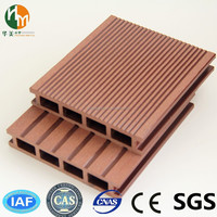 wpc crack-resistant decking/ wood plastic composite deck board / WPC wood