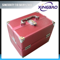 Cosmetic package,price of big size makeup box,sunrise beauty case