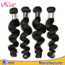 XBL cheap raw unprocessed wholesale indian human hair loose wave