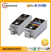 Compatible canon pgi-35 cli-36 printers ink cartridges,use in canon PIXMA ip100 series printer