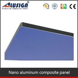 pe acm sheets outdoor sign board material dark blue 6mm flame retardant board