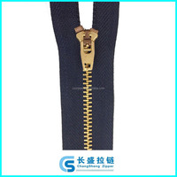 4# copper YG slider with close end jeans metal zipper