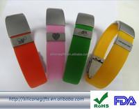 Personalized custom design logo printined debossed embossed wristband
