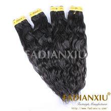Lovely queenlike hair long virgin human peruvian water wave hair.