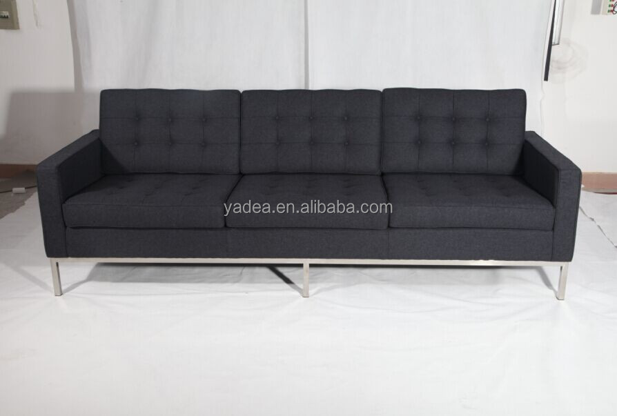 Genuine Leather Fabric Optional Florence Knoll 3 Seater Sofa Reproduction Buy Florence Knoll 3