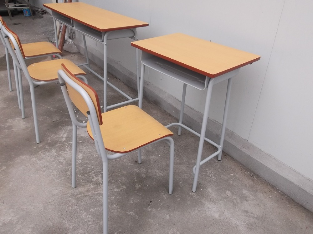 Wholesale iso9001 metal frame student desk and chair set - Student desk and chair set ...