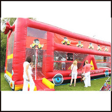NB-BU3005 customized inflatable bus bouncer for entertainment