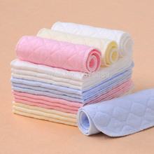 10pcs/lot 3color Baby Diapers Washable reusable Baby Cloth Diapers 3 layers insert super-absorbency microfiber Size 12*32