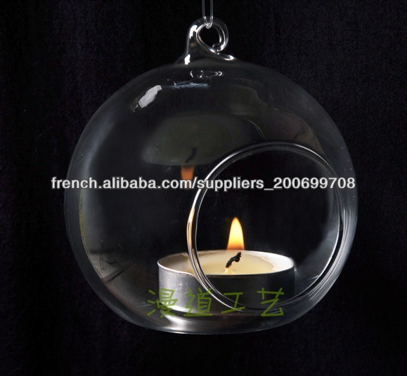 Nouveau design suspension en verre boule de cristal for Suspension boule verre
