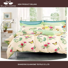 100% cotton pink flower butterfly summer nice colorful design wholesale king size sofa beds
