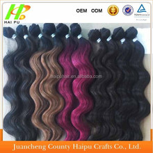 Colorful heat resistant kanekalon synthetic hair