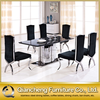 malaysia style stainless base dining table