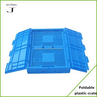 Fldable plastic fruit basket with lid