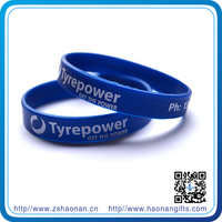 2014 china manufacturer personalized heated rubber wrist bands