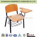 Knock down mobiliarioescolar/aula silla con cojín de escritura
