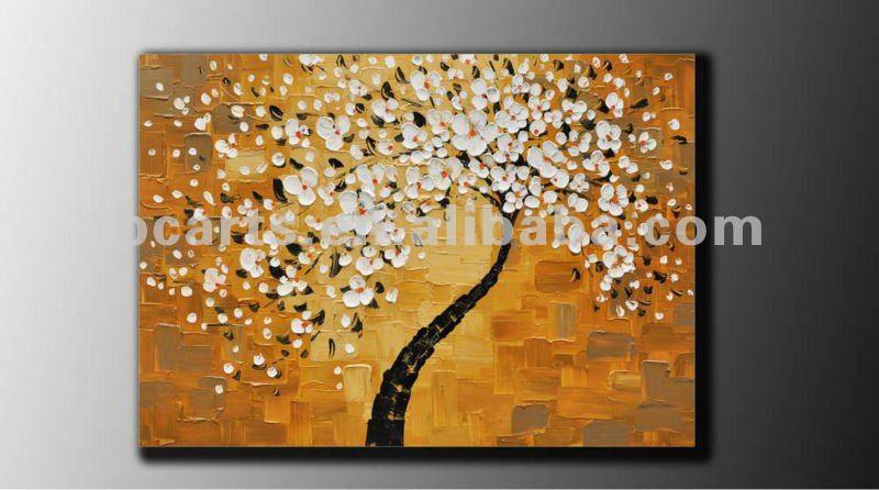original gran abstracta contemporánea flor de árbol gruesas ...