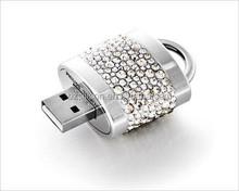 best selling item Jewelry lock usb flash drive, Promotional metal lock usb stick 2gb, 4gb, 8gb, 16gb