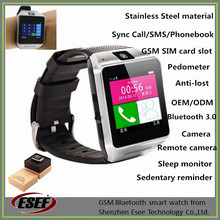 Stainless steel Bluetooth watch phone sync Call/SMS, supports SIM card