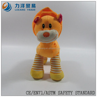 cute/lovely baby plush/stuff toys/animal toys/orange animals with ring, Customised toys,CE/ASTM safety stardard