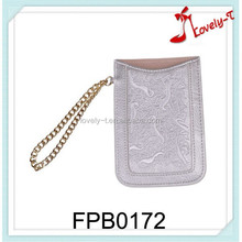 China fashion customized design cell phone bag low price PU leather portable cell phone bag
