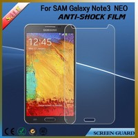 Anti- shock anti glare clear screen protector for Samsung galaxy note 3 neo