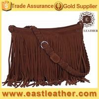 E1115 China guangzhou wholesale market fashion suede fringe handbags