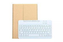 Deluxe 360 degree rotatiing ultra slim bluetooth keyboard case for ipad air wireless keyboard cover