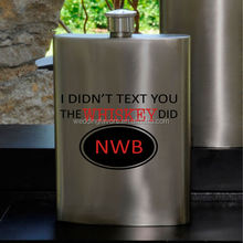 Texting Whiskey Guys Party Flask