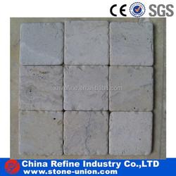 white travertine knock edge stone pavers